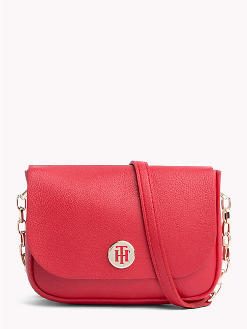 TOMMY HILFIGER Monogram Compact Crossover Bag - TOMMY RED/ CORP STRIPE - TOMMY HILFIGER Crossbody Bags - main image