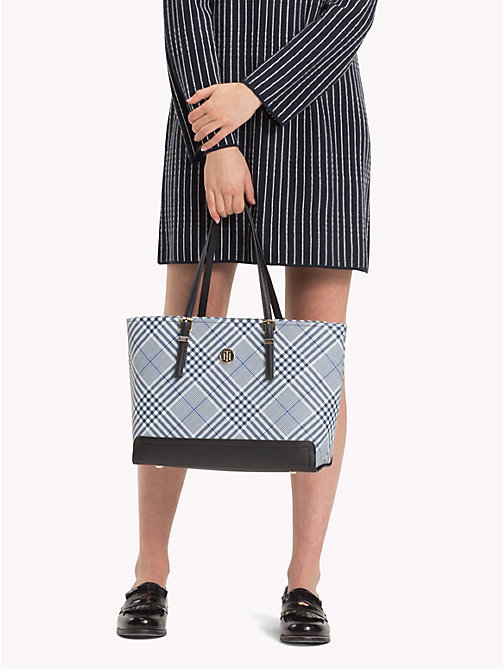 TOMMY HILFIGER HONEY MED TOTE PRINT - POW CHECK - TOMMY HILFIGER Shoppers - detail image 1