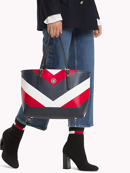 TOMMY HILFIGER Monogram Tote Bag - CORPORATE CHEVRON - TOMMY HILFIGER NEW IN - detail image 1