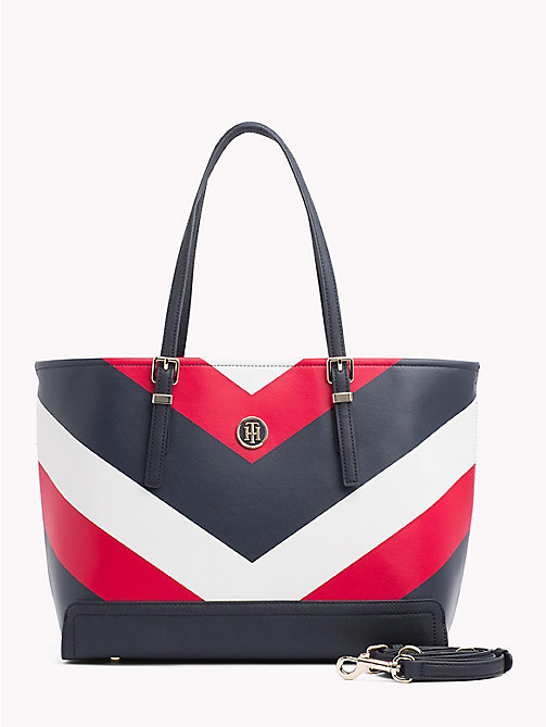 TOMMY HILFIGER Monogram Tote Bag - CORPORATE CHEVRON - TOMMY HILFIGER Tote Bags - main image