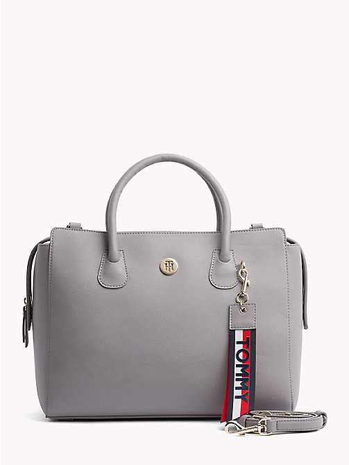 TOMMY HILFIGER Charming Satchel - SILVER FILIGREE/ POW CHECK - TOMMY HILFIGER Satchel Bags - main image