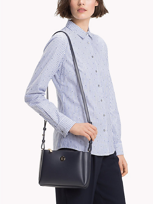 TOMMY HILFIGER Monogram Plaque Crossover Bag - TOMMY NAVY - TOMMY HILFIGER Crossbody Bags - detail image 1