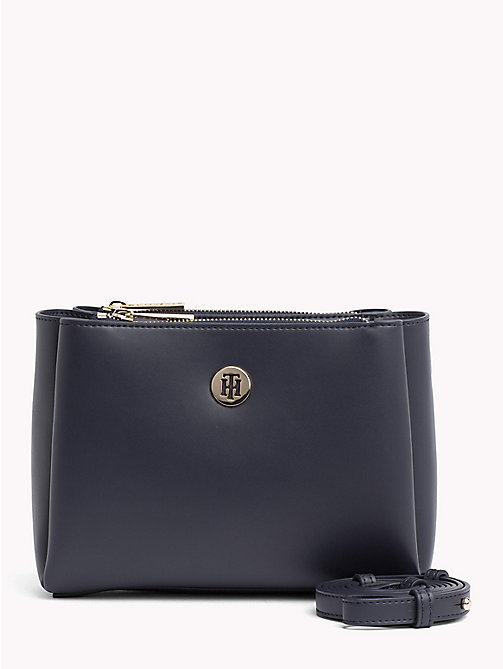 TOMMY HILFIGER Monogram Plaque Crossover Bag - TOMMY NAVY - TOMMY HILFIGER Crossbody Bags - main image