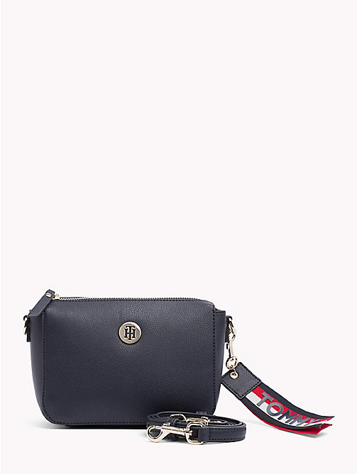 Charming Crossover Flap Bag - TOMMY NAVY/ CORP STRIPE - TOMMY HILFIGER Crossbody Bags - main image