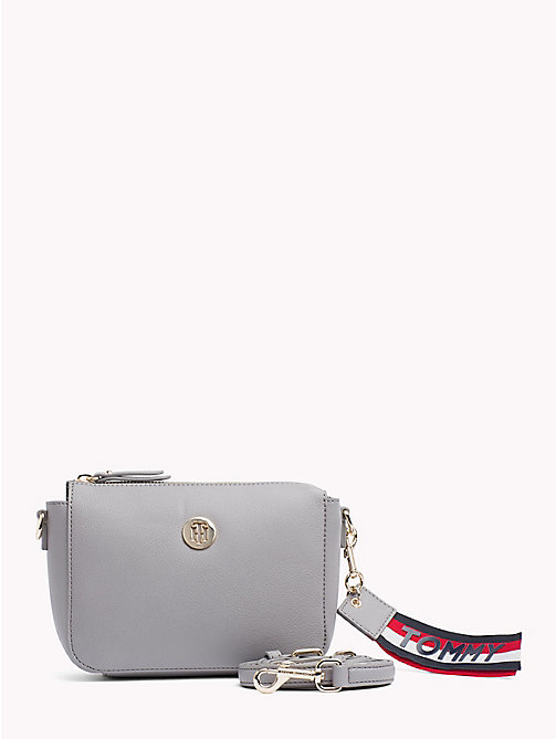 TOMMY HILFIGER Charming Crossover Flap Bag - SILVER FILIGREE/ POW CHECK - TOMMY HILFIGER Crossbody Bags - main image