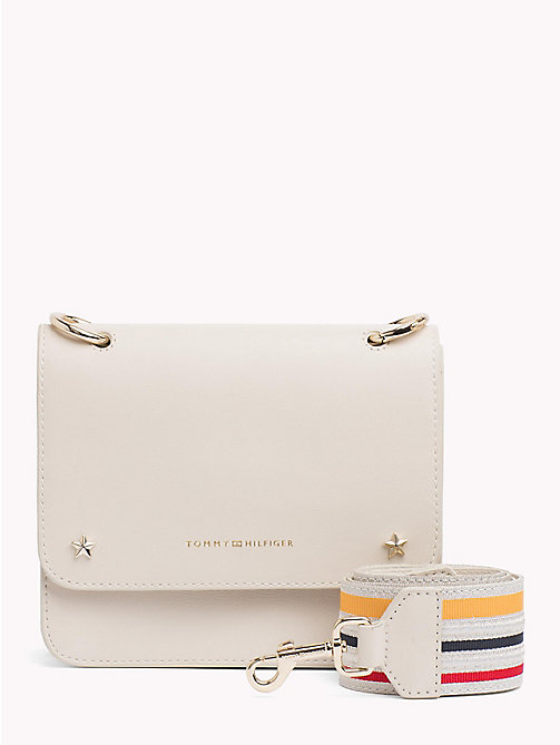 TOMMY HILFIGER Tommy Leather Crossover Bag - BIRCH - TOMMY HILFIGER Crossbody Bags - main image