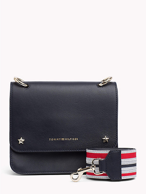TOMMY HILFIGER Tommy Leather Crossover Bag - TOMMY NAVY - TOMMY HILFIGER Crossbody Bags - main image