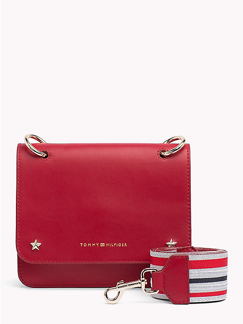 TOMMY HILFIGER Tommy Leather Crossover Bag - TOMMY RED - TOMMY HILFIGER Crossbody Bags - main image