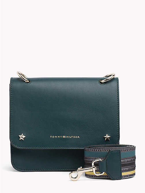 TOMMY HILFIGER Tommy Leather Crossover Bag - JUNE BUG - TOMMY HILFIGER Bags & Accessories - main image