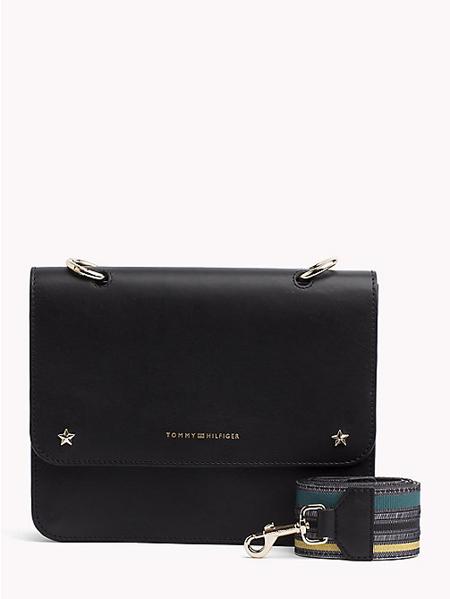 TOMMY HILFIGER Tommy Leather Crossover Bag - BLACK - TOMMY HILFIGER Crossbody Bags - main image