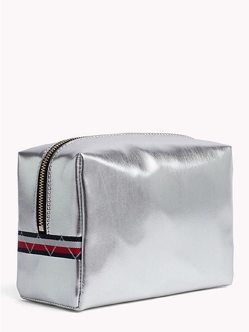 TOMMY HILFIGER Metallic Monogram Washbag - METALLIC - TOMMY HILFIGER Make-up Bags - detail image 1