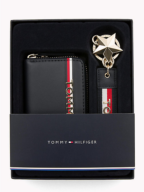TOMMY HILFIGER Stars and Stripes Leather Gift Set - TOMMY NAVY - TOMMY HILFIGER Wallets & Keyrings - main image