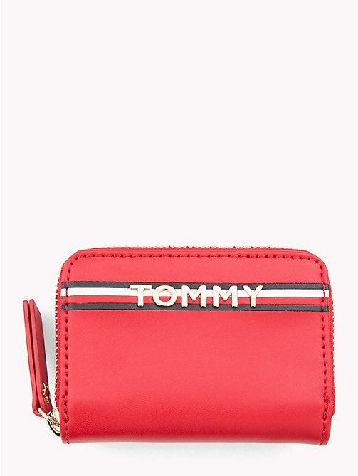 TOMMY HILFIGER Compact Tommy Leather Wallet - TOMMY RED - TOMMY HILFIGER Wallets - main image