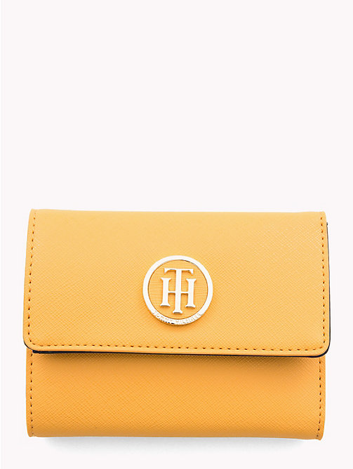 TOMMY HILFIGER Monogram Flap Wallet - SUNFLOWER - TOMMY HILFIGER Black Friday Women - main image