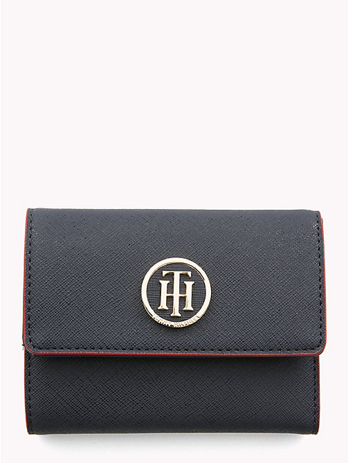 TOMMY HILFIGER Monogram Flap Wallet - TOMMY NAVY/ RED EDGE PAINT - TOMMY HILFIGER Wallets - main image