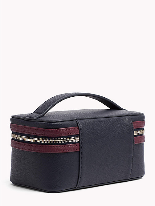 TOMMY HILFIGER Tommy Core Beauty Case - TOMMY NAVY/ BURGUNDY - TOMMY HILFIGER Bags & Accessories - detail image 1