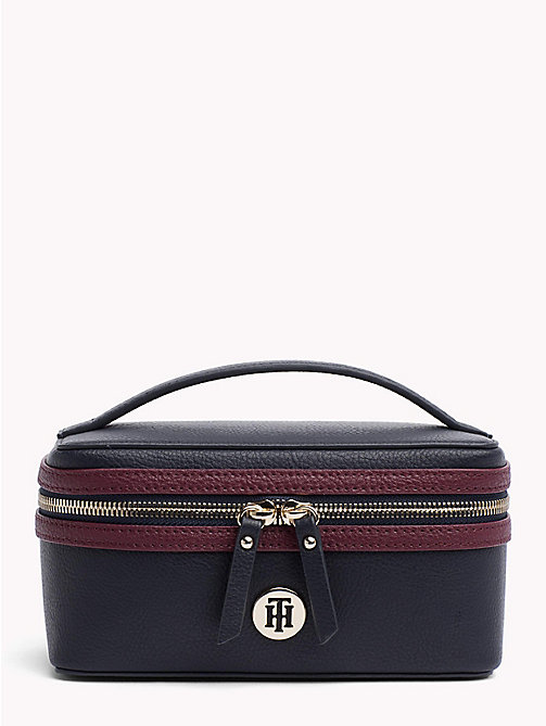 TOMMY HILFIGER Tommy Core Beauty Case - TOMMY NAVY/ BURGUNDY - TOMMY HILFIGER Bags & Accessories - main image