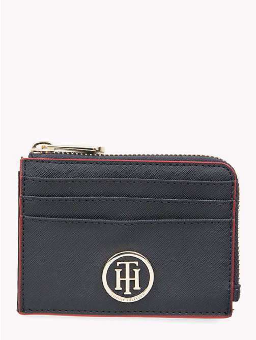 TOMMY HILFIGER Monogram Cardholder - TOMMY NAVY/ RED EDGE PAINT - TOMMY HILFIGER Wallets - main image