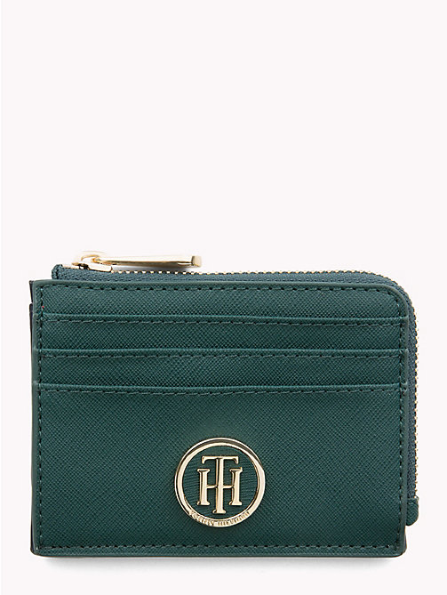 TOMMY HILFIGER Monogram Cardholder - JUNE BUG - TOMMY HILFIGER Wallets - main image
