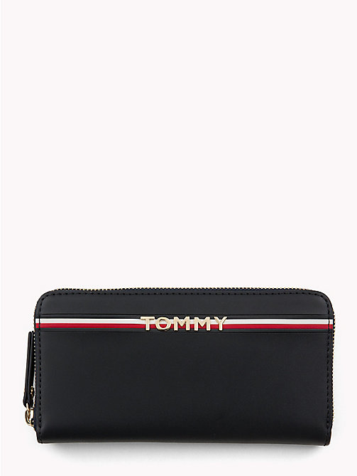 TOMMY HILFIGER Large Logo Leather Wallet - TOMMY NAVY - TOMMY HILFIGER Black Friday Women - main image