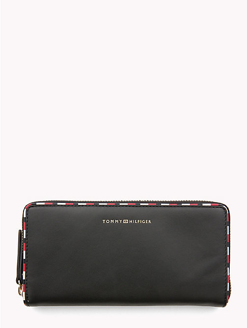 TOMMY HILFIGER Signature Large Leather Wallet - BLACK - TOMMY HILFIGER Wallets - main image