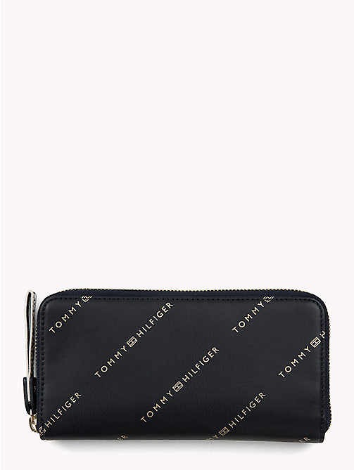TOMMY HILFIGER Large Logo Card Wallet - TOMMY NAVY/ ALL OVER LOGO - TOMMY HILFIGER Wallets - main image