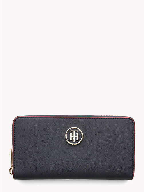 TOMMY HILFIGER Large Monogram Wallet - TOMMY NAVY/ RED EDGE PAINT - TOMMY HILFIGER Bags & Accessories - main image