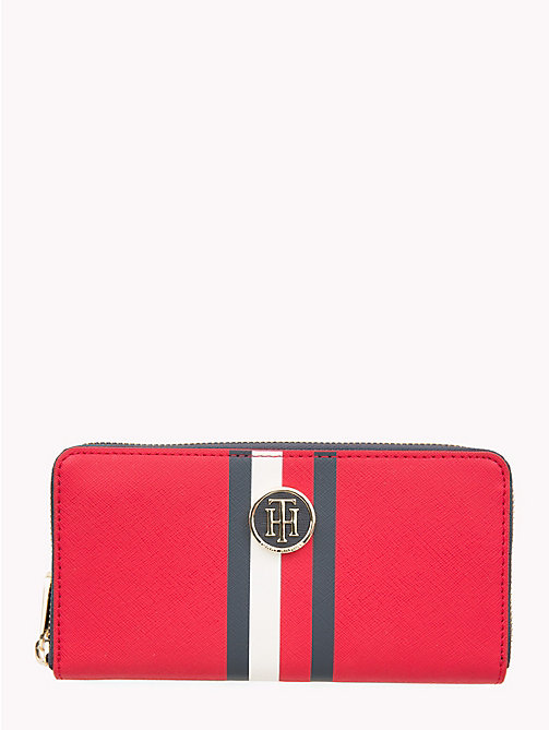 TOMMY HILFIGER Large Monogram Wallet - TOMMY RED/ CORP STRIPE - TOMMY HILFIGER Wallets - main image