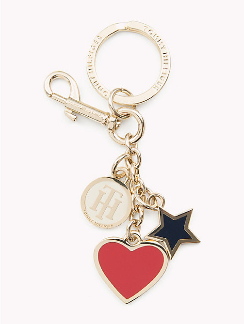 TOMMY HILFIGER Heart and Star Key Fob - CORPORATE MIX - TOMMY HILFIGER Keyrings - main image