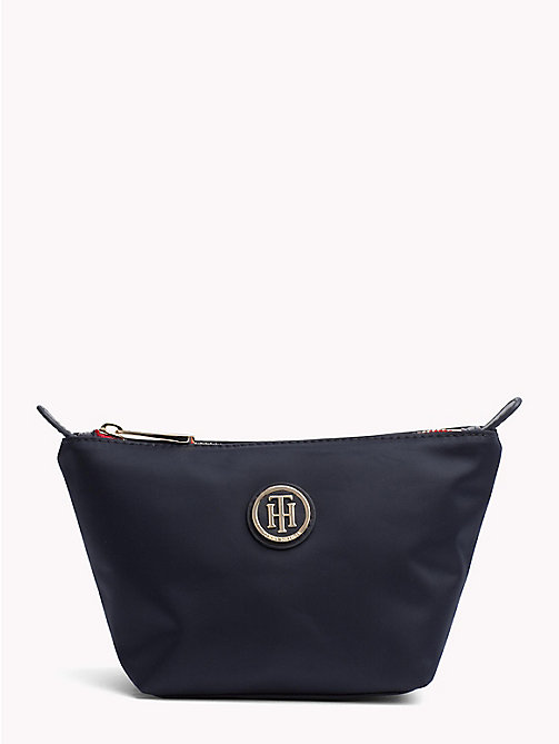 TOMMY HILFIGER Monogram Make-Up Bag - TOMMY NAVY - TOMMY HILFIGER Bags & Accessories - main image