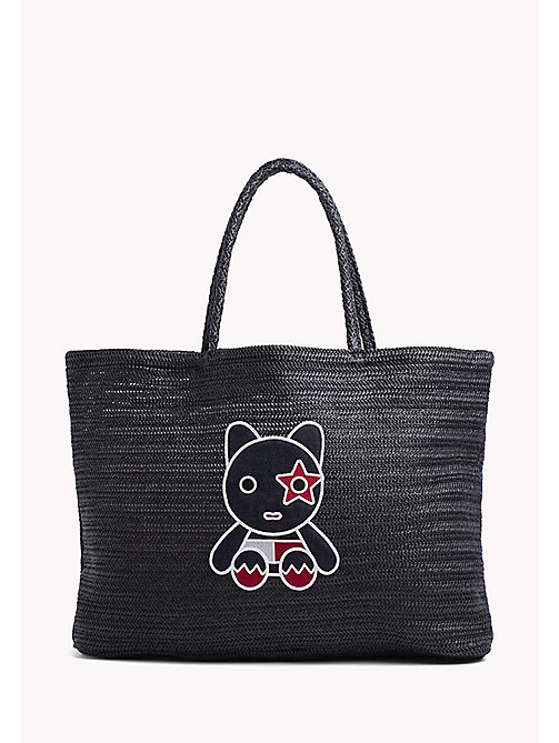 TOMMY HILFIGER Raffia Mascot Tote Bag - TOMMY NAVY - TOMMY HILFIGER VACATION FOR HER - main image