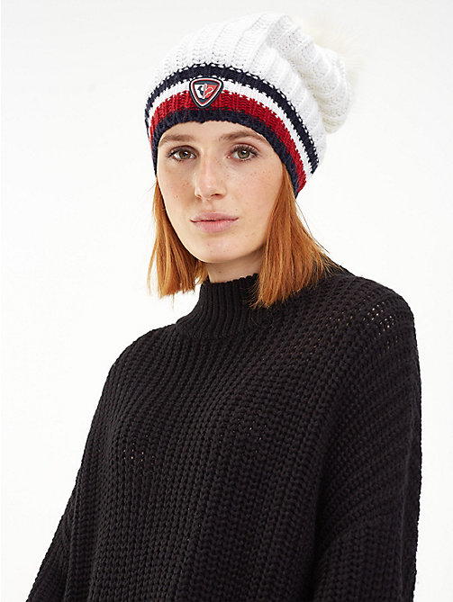 TOMMY HILFIGER Rossignol Chunky Beanie - BRIGHT WHITE - TOMMY HILFIGER TOMMYXROSSIGNOL - detail image 1