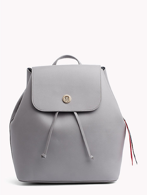 TOMMY HILFIGER Charming Drawstring Backpack - SILVER FILIGREE/ POW CHECK - TOMMY HILFIGER Backpacks - main image