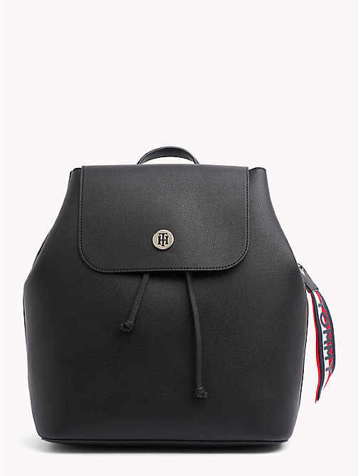 TOMMY HILFIGER Charming Drawstring Backpack - BLACK/ GOLD - TOMMY HILFIGER Bags & Accessories - main image