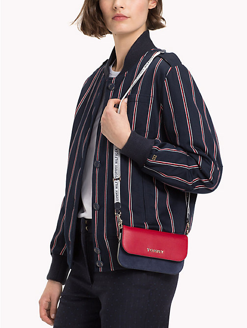 TOMMY HILFIGER Crossbody-Lederbrieftasche - CORPORATE - TOMMY HILFIGER Clutches - main image 1