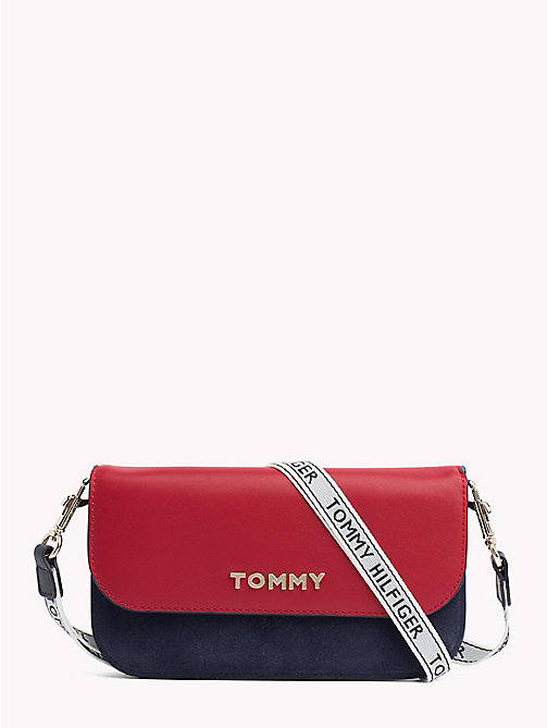 TOMMY HILFIGER Small Crossover Leather Wallet - CORPORATE - TOMMY HILFIGER Clutch Bags - main image