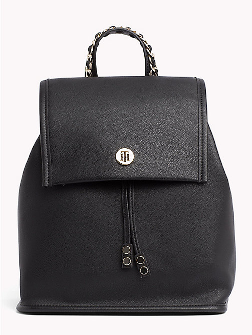 TOMMY HILFIGER Chain Handle Backpack - BLACK - TOMMY HILFIGER Backpacks - main image