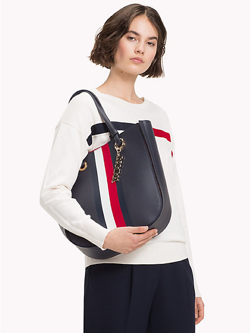 TOMMY HILFIGER Twist Tote - TOMMY NAVY/ CORP STRIPE - TOMMY HILFIGER Tote Bags - detail image 1