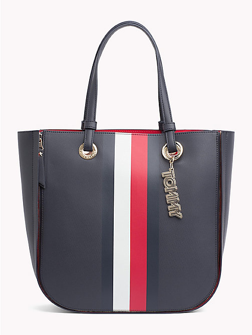 TOMMY HILFIGER Twist Tote - TOMMY NAVY/ CORP STRIPE - TOMMY HILFIGER Tote Bags - main image
