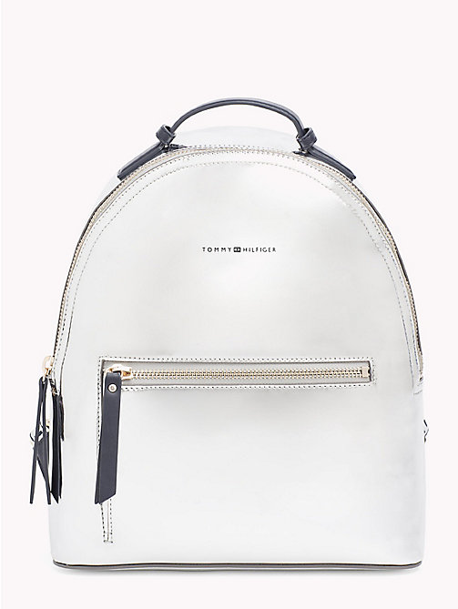 TOMMY HILFIGER Metallic Logo Backpack - METALLIC/ TOMMY NAVY - TOMMY HILFIGER Backpacks - main image