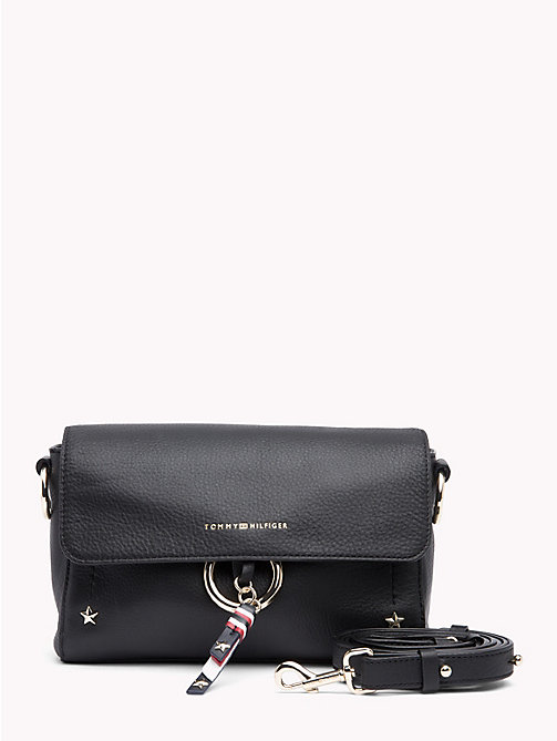 TOMMY HILFIGER Heritage Leather Crossover - BLACK - TOMMY HILFIGER Crossbody Bags - main image