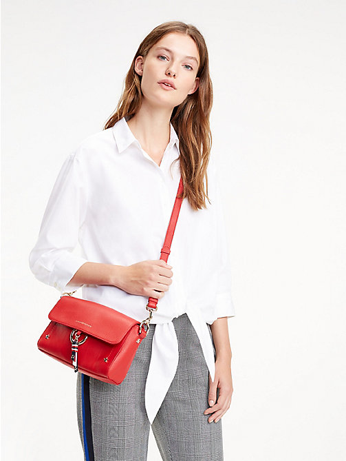 TOMMY HILFIGER Heritage Leather Crossover - TOMMY RED - TOMMY HILFIGER Crossbody Bags - detail image 1