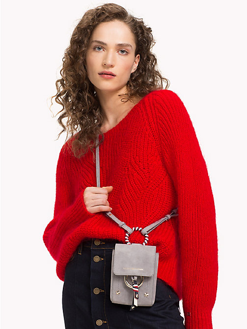 TOMMY HILFIGER Mini Heritage Leather Crossover - SILVER FILIGREE - TOMMY HILFIGER Crossbody Bags - detail image 1