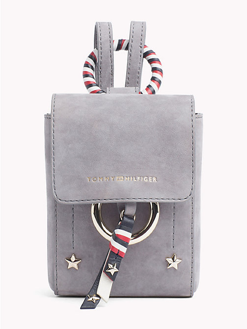 TOMMY HILFIGER Mini Heritage Leather Crossover - SILVER FILIGREE -  Bags & Accessories - main image