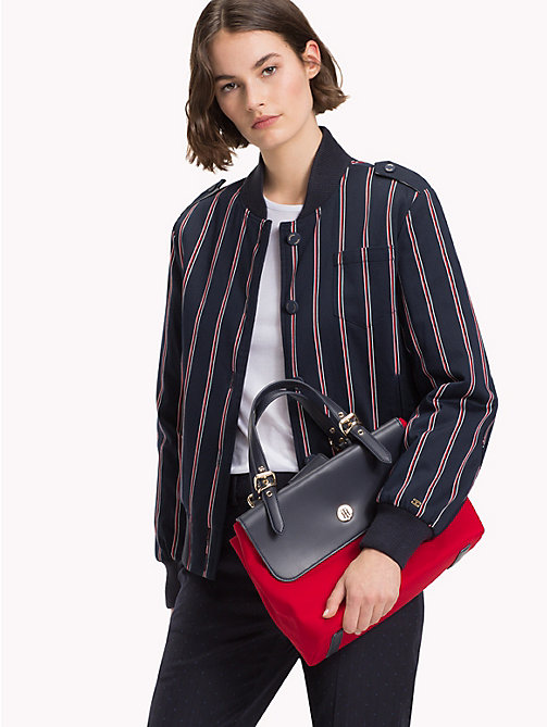 TOMMY HILFIGER Dressy Nylon Satchel - TOMMY RED/ TOMMY NAVY - TOMMY HILFIGER The Office Edit - detail image 1