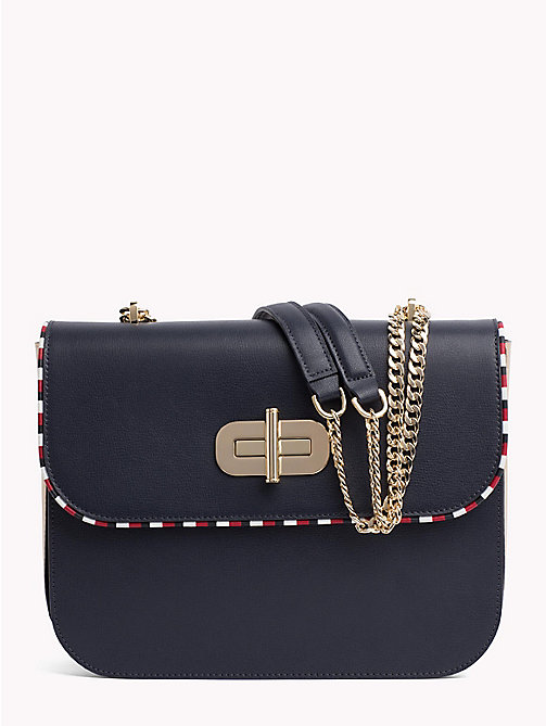 TOMMY HILFIGER Crossover Chain Purse - TOMMY NAVY/ GOLD - TOMMY HILFIGER NEW IN - main image
