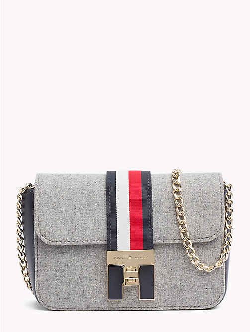 TOMMY HILFIGER Heritage Mini Crossover Bag - MELTON GREY - TOMMY HILFIGER Crossbody Bags - main image