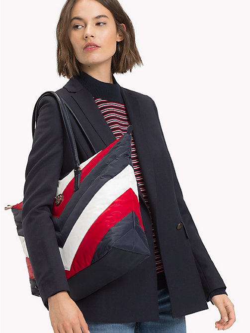 TOMMY HILFIGER Chevron Puffer Tote Bag - CORPORATE - TOMMY HILFIGER Tote Bags - detail image 1