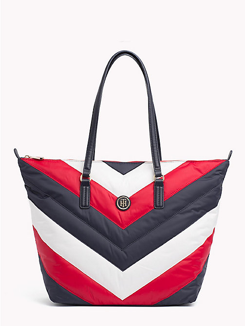 TOMMY HILFIGER Chevron Puffer Tote Bag - CORPORATE - TOMMY HILFIGER Tote Bags - main image