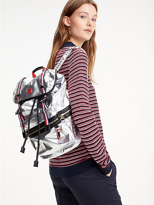 TOMMY HILFIGER Mirror Metallic Backpack - METALLIC - TOMMY HILFIGER Backpacks - detail image 1